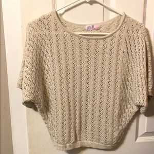 Knitted cropped sweatshirt